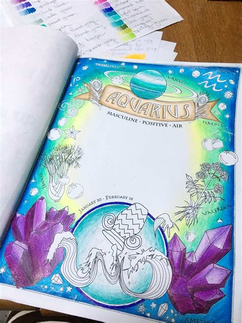 aquarius color aquarius color along coloring book of shadows