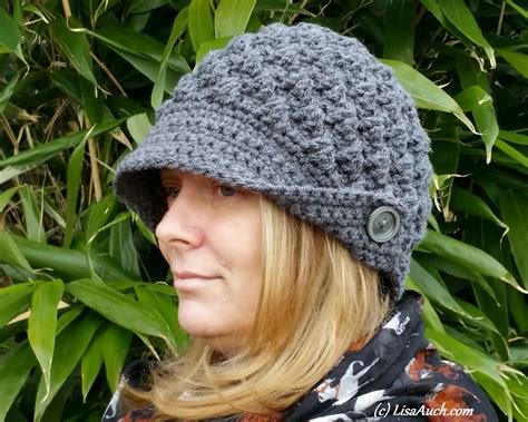 fashionable womans crochet hat free pattern review