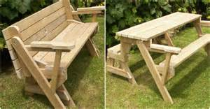 How To Make A Folding Picnic Table Bench by How To Build A Diy 2 In 1 Convertible Folding Bench And Picnic Table Combo 2 How To Instructions