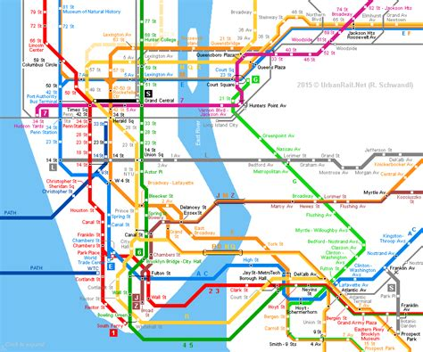 ny city subway map newyork subway map my