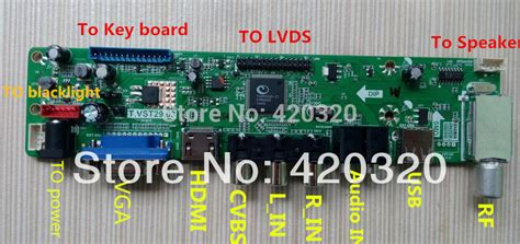 Lcd Tv Controller Board jk t vst590 31 v59 chip hdtv driver board controller board tv pc av hdmi usb pal model universal