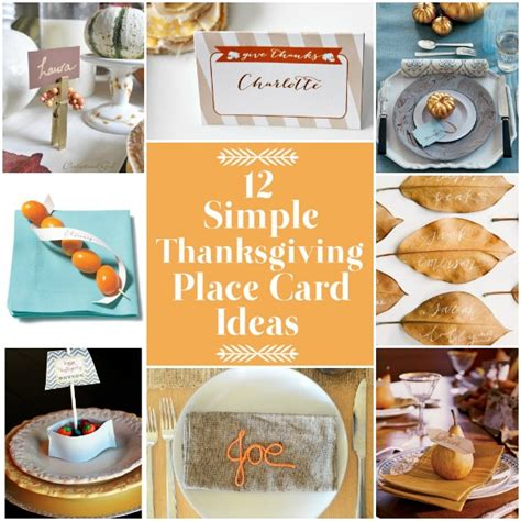 printable thanksgiving name card ideas 12 simple thanksgiving place card ideas
