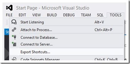 format html shortcut visual studio get mad s shorts mad s visual studio shortcut exporter