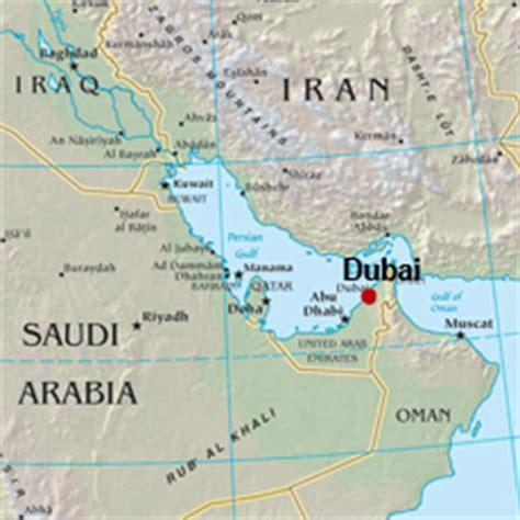 dubai on a map of the world united arab emirates