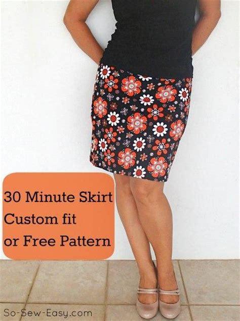 easy skirt pattern 30 minute easy skirt by so sew easy craftsy