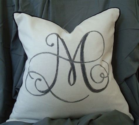 Monogram Pillow Cases by Unique Monogram Pillow With Your Initial Name Great Home