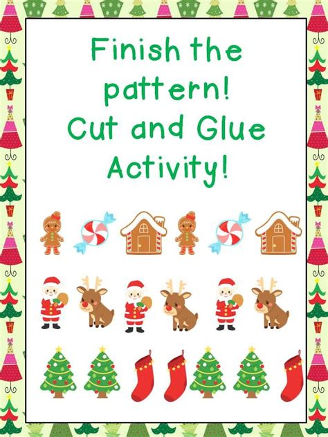 christmas pattern lesson 59 best christmas worksheets images on pinterest