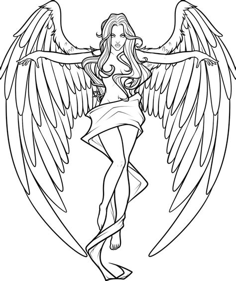 realistic angel coloring pages angel coloring pages download