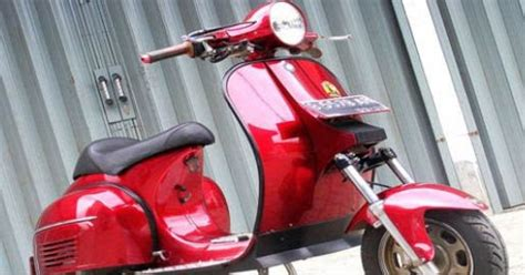 Modifikasi Vespa Model Harley by Bengkel Modifikasi Vespa Modifikasi