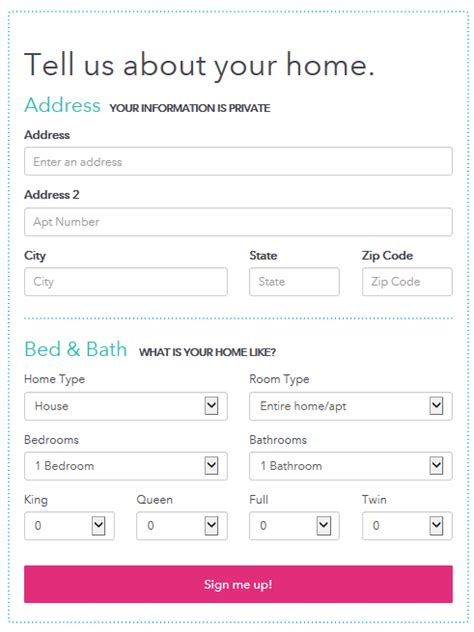 form layout exles html 5 exles of web form design best practices