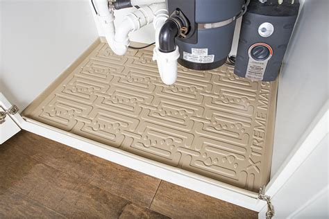 under kitchen sink cabinet liner save 3 xtreme mats under sink kitchen cabinet mat drip