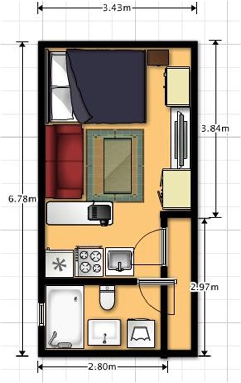 2 Bedroom Apartment Floor Plans by 10 Ideas Sobre Planos De Departamentos Peque 241 Os En