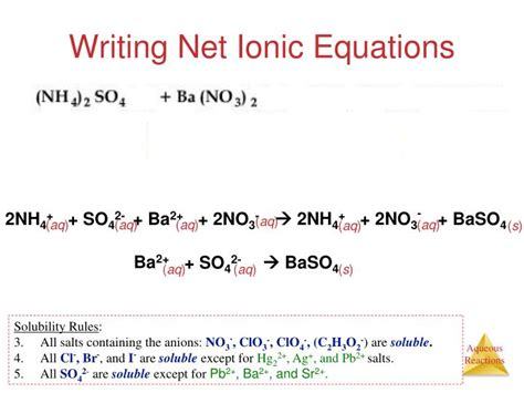 tutorial on net ionic equations net ionic equations advanced chem worksheet 10 4 answers