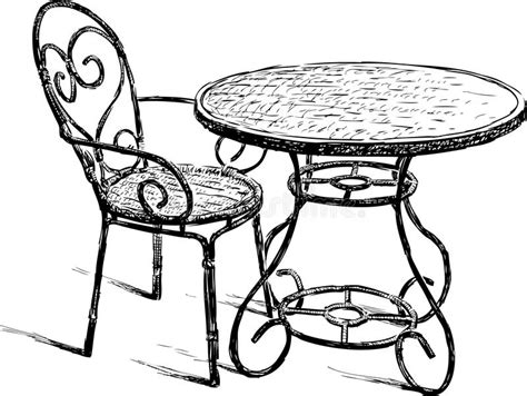 Vector Drawing Tablet table and chair royalty free stock photos image 30578538