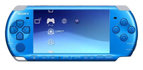 psp 3000 console psp 3000 playstation portable console vibrant blue the