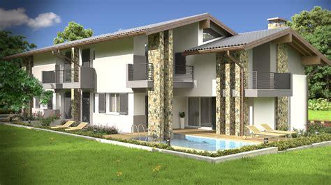 Villette Moderne Esterno by Rendering Esterni Fotorealistici Per Architettura