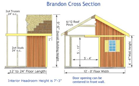 Pre Made Shed Trusses by Brandon 12x12 Wood Storage Shed Kit All Pre Cut Brandon