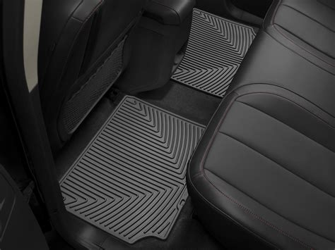 weathertech 174 all weather floor mats chevrolet equinox 2010 2015 black