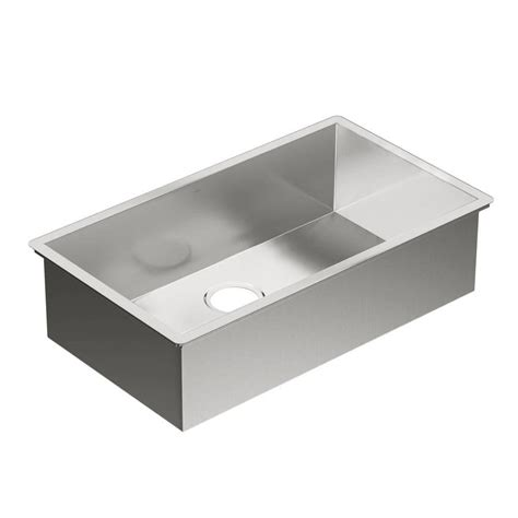 moen undermount bathroom sinks moen 1800 series undermount stainless steel 31 in 0 hole