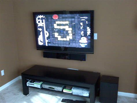 mount sound bar on top of tv how to mount a sound bar home theater installation