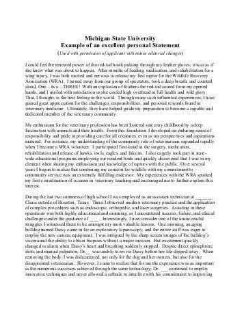 Michigan State Personal Statement www liv ac uk careers exles of pgce personal statements