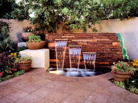 Outdoor Garden Wall Fountains Design Ideas Models Home Garden Wall Features Ideas