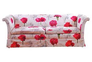flowered sofas upholstered floral sofa with bright pink flowers on a