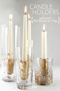 Spray Paint Glass Vases Remodelaholic Diy Gold Leaf Candle Holders