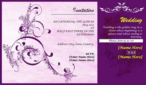 invite card template professionally design wedding invitation card template