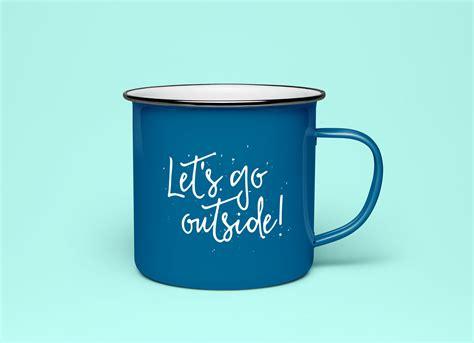 A Tea Coffee Cup free enameled coffee tea cup mockup psd mockups