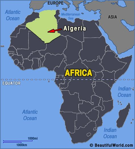 africa map algeria map of algeria facts information beautiful world