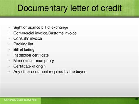 Letter Of Credit With Recourse Letter Of Credit