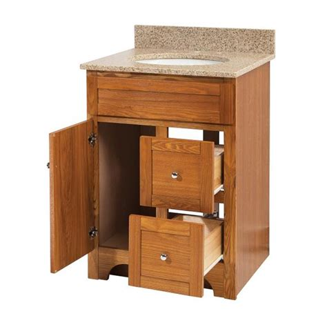 Oak Bathroom Vanity Worthington 24 Inch Oak Bathroom Vanity Burroughs