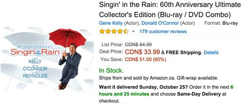 amazon canada amazon canada deals of the day save 60 on singin in the