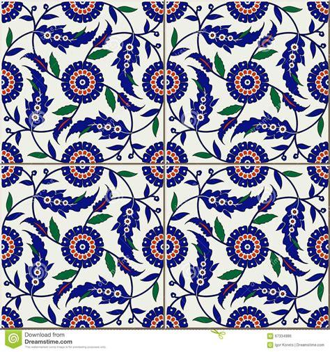 pattern islamic floral seamless pattern turkish moroccan portuguese tiles