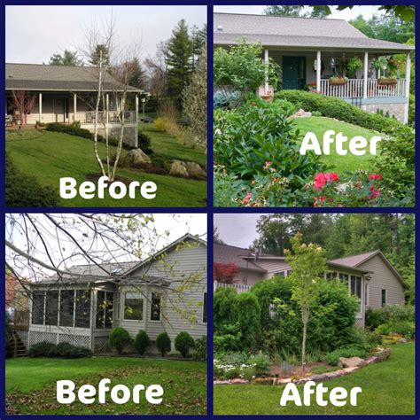 landscaping before and after landscape ideas