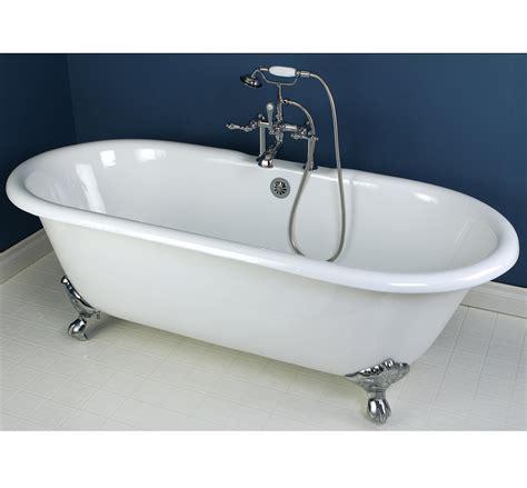 cast iron clawfoot tub kingston brass aqua vct7d7231nc1 cast iron slipper clawfoot bathtub with chrome