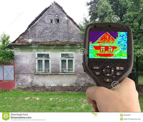 video camera for house thermal image of the old house royalty free stock photography image 32645937