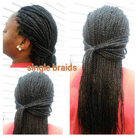 box braids hairstyle human hair or synthtic single box braids authentic african hair braiding