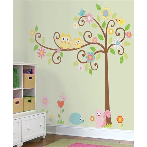 giant scroll tree wall decals baby nursery stickers