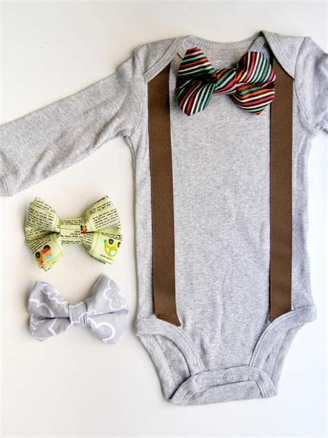 diy baby onesie with a bow tie free card template how to add a bow tie and suspenders to a baby onesie how