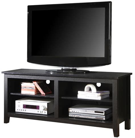 tv stands 58 inch open shelf wood tv stand in tv stands