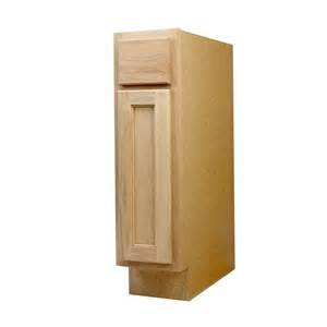9 Inch Kitchen Base Cabinet Shop Continental Cabinets Inc 9 In W X 34 5 In H X 24 In D Unfinished Oak Door And Drawer Base