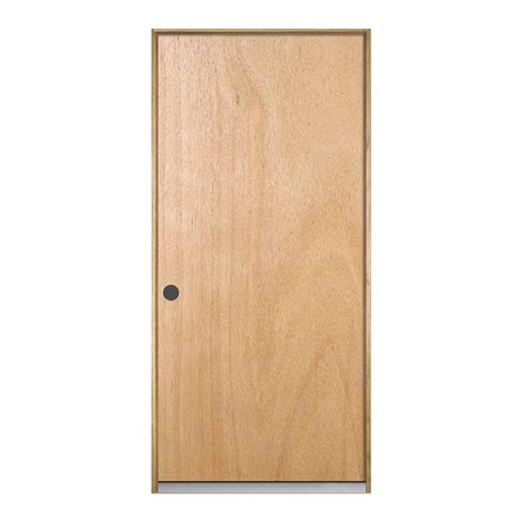 Pre Hung Solid Wood Interior Doors Jeld Wen 30 In X 80 In Hardwood Unfinished Flush Solid Wood Single Prehung Interior Door