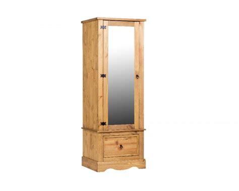Single Mirror Closet Door Corona Pine Single Mirror Door Wardrobe By Products