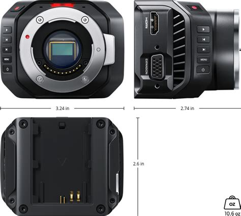 Blackmagic Micro Cinema Camera Tech Specs Blackmagic
