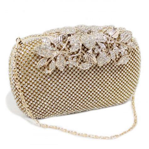 Wedding Box Clutch by Gold Wedding Clutch Bridal Clutch Chagne Clutch