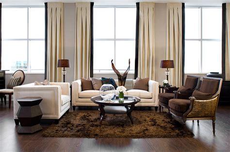 jane lockhart chocolate brown white bedroom modern jane lockhart loft living room modern living room