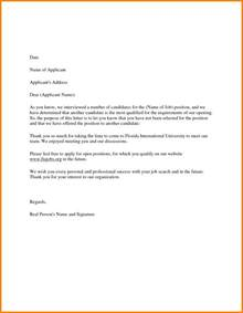 Employment Rejection Letter Format 16 Rejection Letter Sle To Applicant Ledger Paper