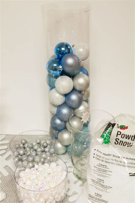 make your own table centerpiece frozen decorations all that glitters